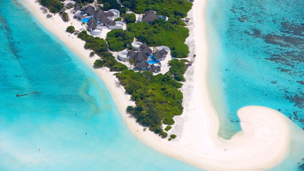 Hideaway Beach Resort and Spa aerial beach