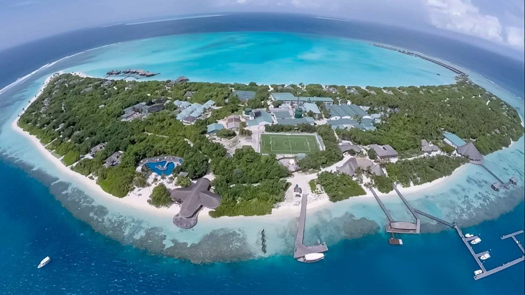 Hideaway Beach Resort and Spa Maldives aerial view