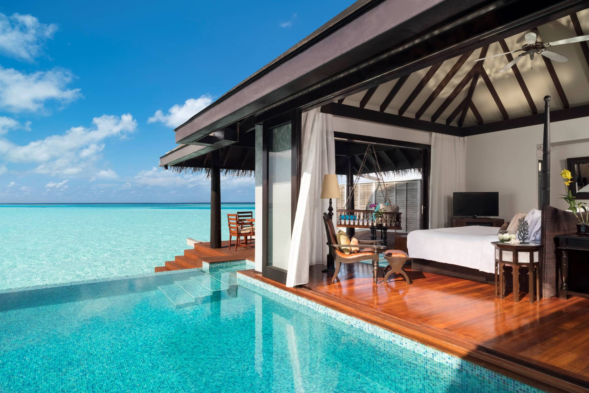 Over Water Pool Villa View