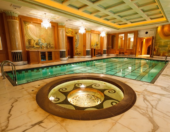 Amazing internal swimming pool at the Empire Hotel Brunei Borneo