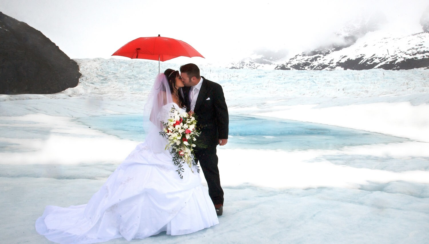 Romantic Glacier Setting